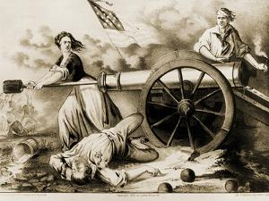 Molly Pitcher, Heroine of Monmouth by Currier & Ives
