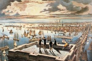New York Harbor, c1882 by Currier & Ives
