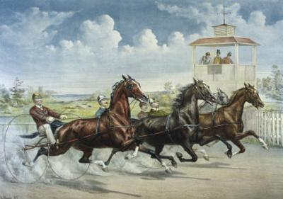 Pacing for a Grand Purse by Currier & Ives