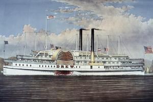 People's Line - Hudson River, from 'The Palace Steamers of the World' Series by Currier & Ives