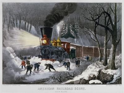 Railroad Snow Scene, 1872 by Currier & Ives