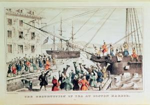 The Boston Tea Party, 1846 by Currier & Ives