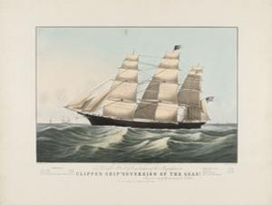 The Clipper Ship, Sovereign of the Seas, c.1852 by Currier & Ives