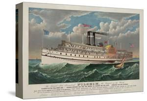 """The Grand New Steamboat """"Pilgrim"""", c. 1883 by Currier & Ives"""