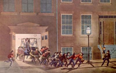 The Life of a Fireman I by Currier & Ives