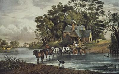 The Nearest Way in Summertime by Currier & Ives