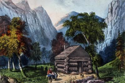 The Pioneer Cabin of the Yo-Semite Valley by Currier & Ives