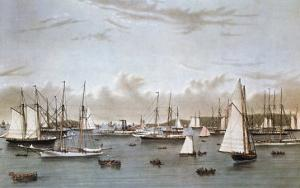 The Yacht Squadron by Currier & Ives