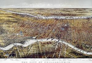View of Philadelphia by Currier & Ives