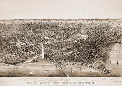 Washington DC, 1892 by Currier & Ives