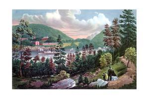 West Point, Us Military Academy, from the Opposite Shore, 1862 by Currier & Ives