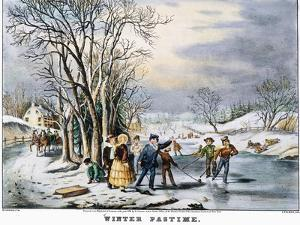 Winter Pastime, 1856 by Currier & Ives