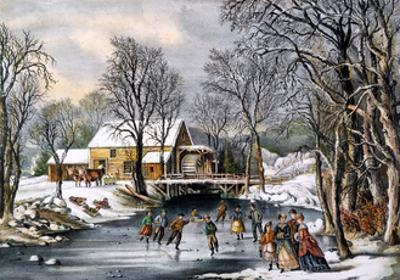 Winter Pastime, 1870 by Currier & Ives