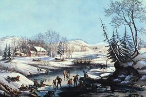 Winter Scene: Morning 1854 by Currier & Ives