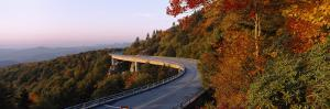 Curved Road over Mountains, Linn Cove Viaduct, Blue Ridge Parkway, North Carolina, USA