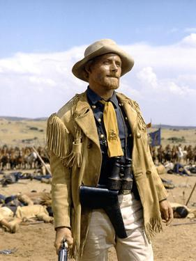 Custer l homme by l ouest by RobertSiodmak with Robert Shaw, 1967 (photo)