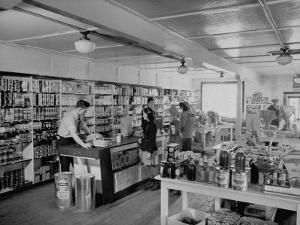 Customers Buying Supplies at Local Store