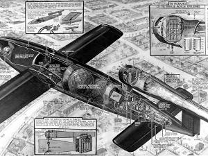 Cutaway Diagram of the V-1 'Flying Bomb'; Second World War