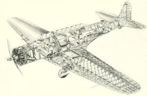 Cutaway Illustration of Aircraft