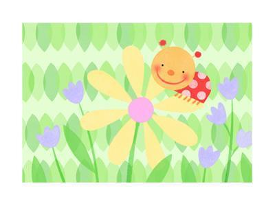 Cute Ladybug on Flower