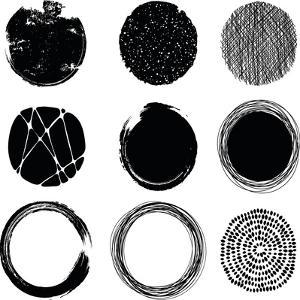 Set of Graphic Circles by Cyborgwitch