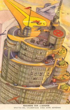 Cylindrical Futuristic French City