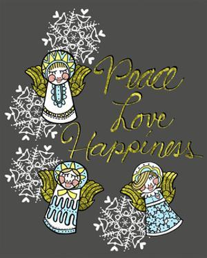 Christmas Angels & Snowflakes by Cyndi Lou