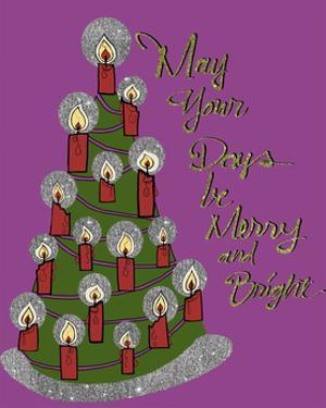 Christmas Candle Tree by Cyndi Lou