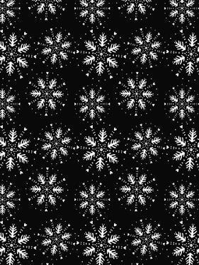 Christmas Folk Snowflakes Repeat by Cyndi Lou