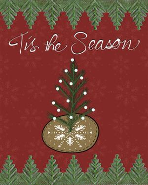 Christmas Folk Tree by Cyndi Lou