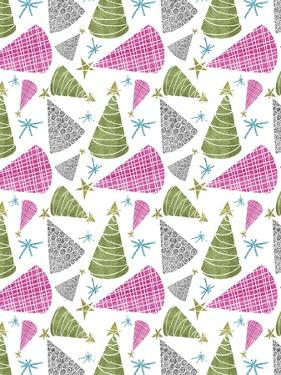 Christmas Glitter Trees Repeat by Cyndi Lou