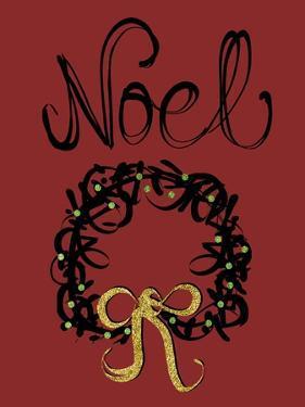 Christmas Ink Wreath by Cyndi Lou