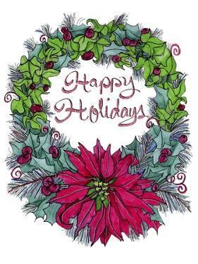 Christmas Ivy Wreath White by Cyndi Lou