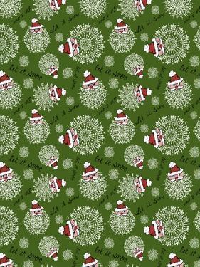 Christmas Santa Snowflakes Repeat by Cyndi Lou