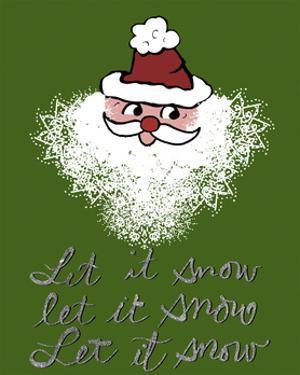 Christmas Snowflake Santa by Cyndi Lou