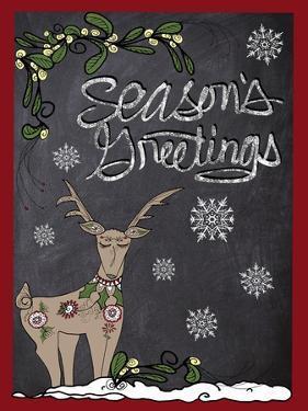 Folklore Reindeer Snowflakes by Cyndi Lou