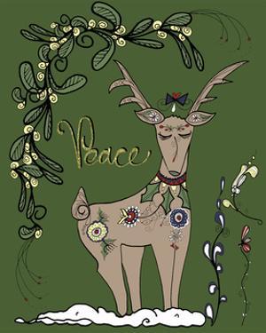 Folklore Reindeer by Cyndi Lou