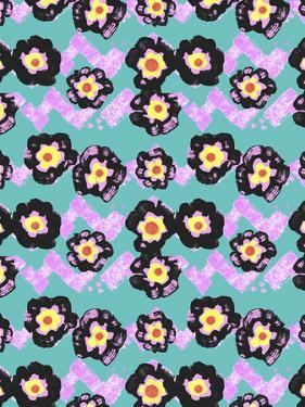 Valentine Floral Zig Zag Repeat by Cyndi Lou