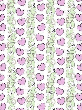 Valentine Hearts & Leaves Repeat by Cyndi Lou