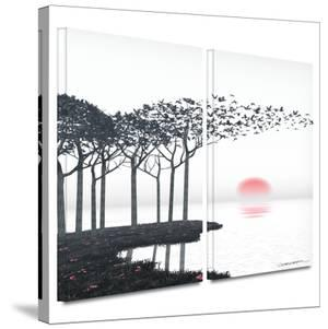 Aki 2 piece gallery-wrapped canvas by Cynthia Decker