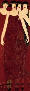 Women in Crimson Gowns by Cynthia Markert