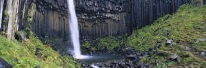 Svartifoss Waterfall, Flanked by Basalt Columns, Skaftafell National Park, Iceland by Cyril Ruoso