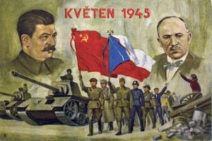 "Czech Propaganda Card ""May 1945"""