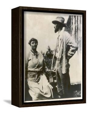 D H Lawrence English Novelist with His German Wife Frieda