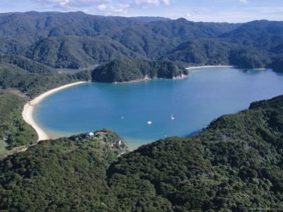 Aerial View of Golden Bay, Takaka, Abel Tasman National Park, Nelson, South Island, New Zealand