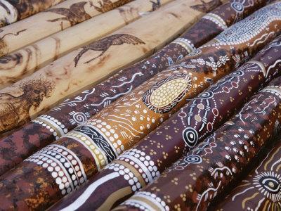 Hand Painted Didgeridoos, Aboriginal Musical Instrument, Australia