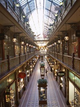 Interior of the Strand, Glass Covered Shopping Mall, Sydney, New South Wales (Nsw), Australia by D H Webster