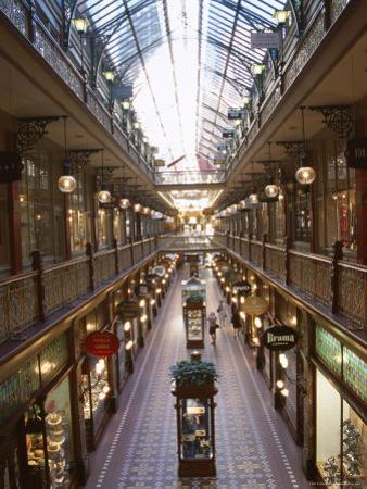 Interior of the Strand, Glass Covered Shopping Mall, Sydney, New South Wales (Nsw), Australia