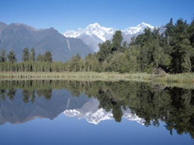 Perfect Reflection on Lake Matheson, Fox Glacier, Westland, South Island, New Zealand