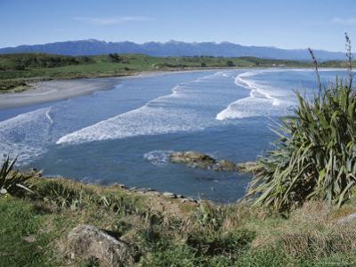 Surf Rolling onto Deserted Beaches, Greymouth, Westland, West Coast, South Island, New Zealand